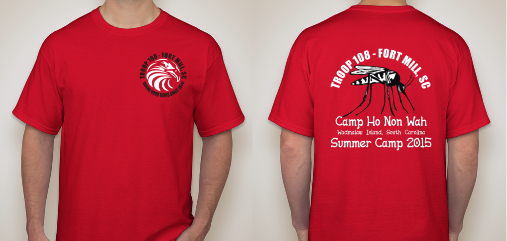 BSA - Troop 108 Summer Camp T-shirt Design